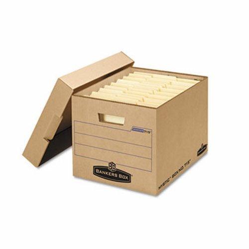 Bankers Box Filing Storage Box with Locking Lid, Letter/Legal, Kraft, 25/Carton (FEL7150001)