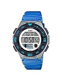 Casio LWS-1100H-2AVCF - Reloj de pulsera para mujer con batería de cuarzo, correa de resina, color azul, 19.9