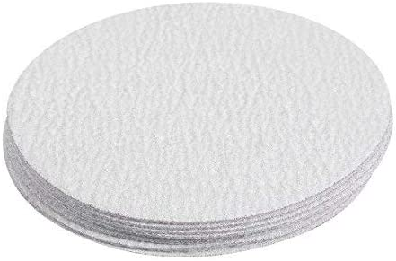 10 pieces 4-inch white aluminum oxide hook and loop dry sanding discs 240 grain float sandpaper