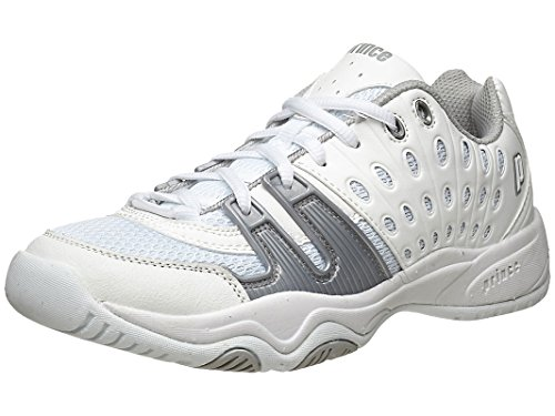 (Prince Junior's T22 Tennis Shoes (White/Grey) (3.5 - US))