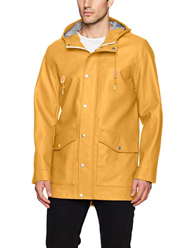 Levi's Men's Rubberized Rain Parka Jacket, Yellow, Small