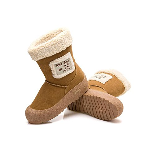 80%OFF Womens Suede Fully Fur Lined Snow Boots