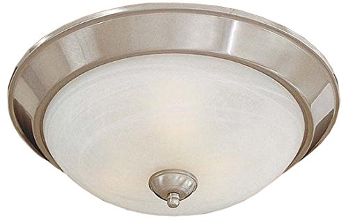 Minka Lavery Minka 893-84-PL Traditional Three Light Flush Mount from Paradox Collection in Pwt, Nckl, B/S, Slvr.Finish, 15.50 inches 3, Upc-747396053547
