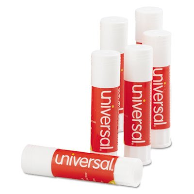 Universal Products - Universal - Permanent Glue Stick, .28 oz, Stick, 12/Pack - Sold As 1 Pack - Washable and acid-free for use on paper, cardboard, photos, fabric. - Glue dries clear, wrinkle-free. - Ideal for archival materials.