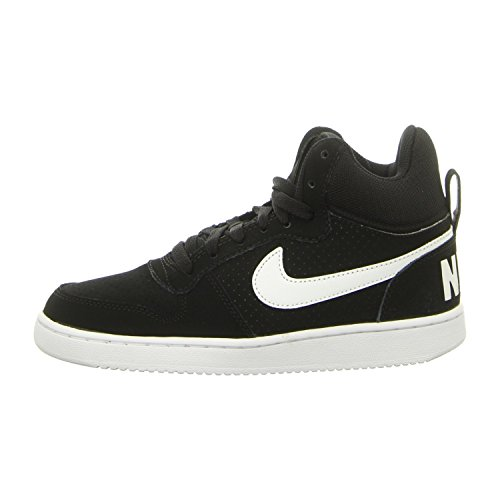 Nike Wmns Chaussures Noir De black Mid Femme Fitness Borough Court 002 black XrrwdqI