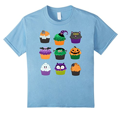 Kids Funny Halloween Shirts - Yummy Halloween Cupcakes T-Shirt 6 Baby (Cup Cake Halloween)
