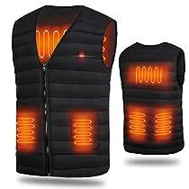 電熱ベスト 電熱ジャケット ヒーター付きベスト 内蔵 加熱ベスト ホットベスト 発熱ベスト USB加熱 3...