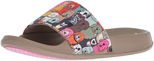 Skechers BOBS from Women's Pop Ups-Doggie Paddle Slide Sandal, Multi, 11 M US