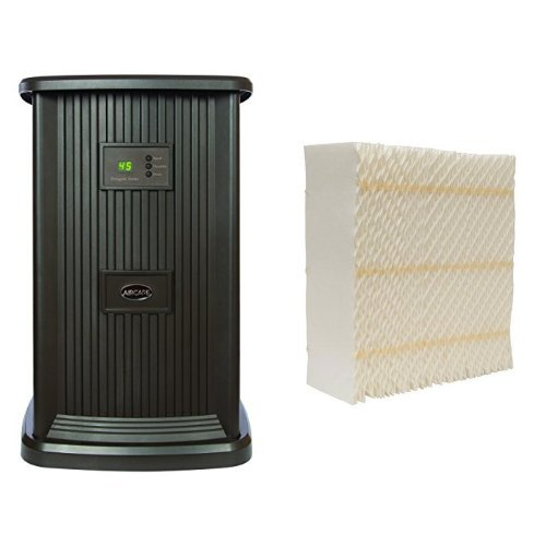 AIRCARE EP9 800 Digital Whole-House Pedestal-Style Evaporative Humidifier, Espresso & AIRCARE 1043 Replacement Space Saver Wick (Style Saver)