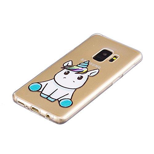 Cover para Huawei Honor 9 Lite ( No coincide Huawei Honor 9 ) , WenJie Rui Beast Transparente Encantador y de alta calidad Regalo TPU Silicona Suave Funda Case Tapa Caso Parachoques Carcasa Cubierta p