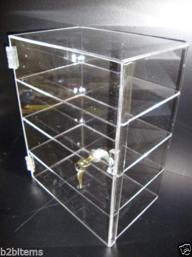 305 Displays Acrylic Countertop Display Case 12'' x 8'' x 16'' Locking Security Showcase Safe Box