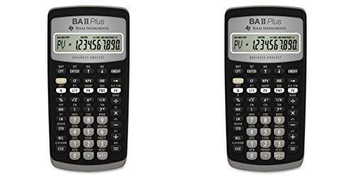 Texas Instruments BA II Plus Financial Calculator (Small - 2 Pack)