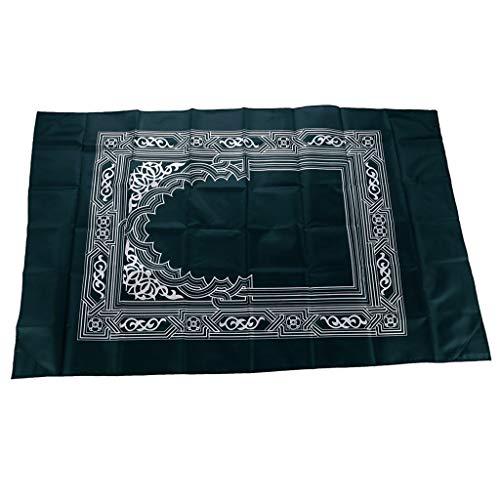 Ramadan Tapestry Prayer Rug - Turkish Islamic Muslim Prayer Rugs Janamaz Prayer Mat Ramadan Eid Gifts (Navy Blue)