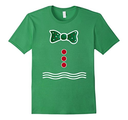 [Men's Gingerbread Man Costume T-shirt Merry Christmas Tee Medium Grass] (Gumdrop Costume Ideas)