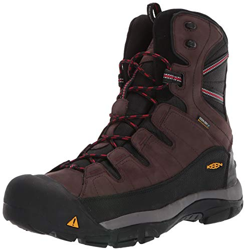 KEEN Men's Summit County Mid Calf Boot, Mulch/Black, 10.5 M US