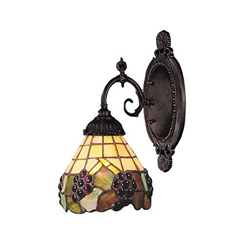 ELK 071-TB-07-LED, Mix-N-Match Glass Wall Sconce Lighting, 1 Light LED, Tiffany Bronze (071 Tb 07 Mix)