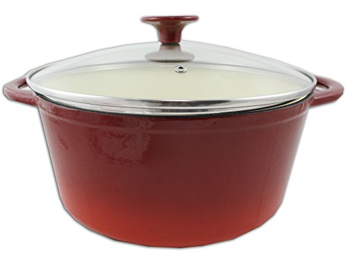 Gibson Europa 91929.02 Red Cast Iron Dutch Oven - Red Dutch Ovens 6qt