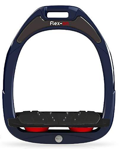 【 限定】フレクソン(Flex-On) 鐙 ガンマセーフオン GAMME SAFE-ON Mixed ultra-grip フレームカラー: ネイビー フットベッドカラー: ブラック エラストマー: レッド 08313   B07KMPY5J7