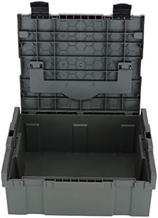 たたみコンテナ、積み重ね可能なポータブル収納工具ケース多機能大型輸送箱メンテナンス工具部品を収納する