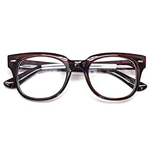 Nerd Geek Oversized Eye Glasses Horn Rim Retro Framed Clear Lens Spectacles