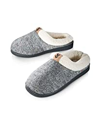 Pupeez Girls Cozy Warm Sweater Knitted Slipper; A Luxury Style Kids House Shoe with Rubber Sole Grey