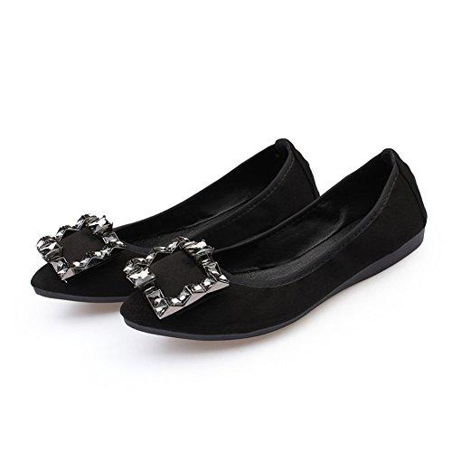 Shoes inferiore black signore Scarpe Inteligente Le Taglia Sopra 3 Mocassino Comfort Pelle Parte mocassino Scivolare HN Piatto morbido Donna 8 zdgqHnAwA
