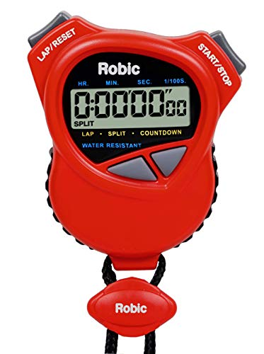 Dual Timer Time Stopwatch Countdown - Oslo Robic Dual Stopwatch/Countdown Timer (Red)
