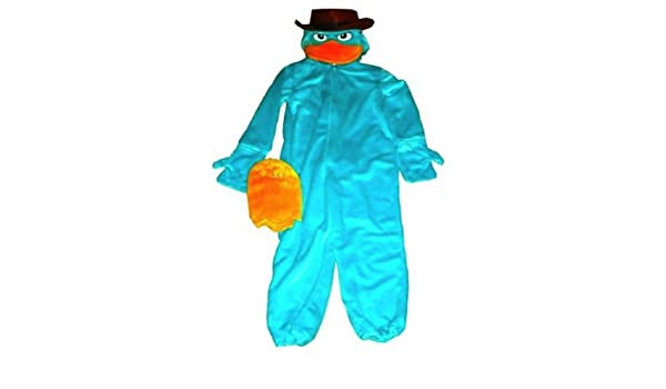 Disney Parks Deluxe Agent P Perry Costume Phineas and Ferb Size Extra Small 4 5