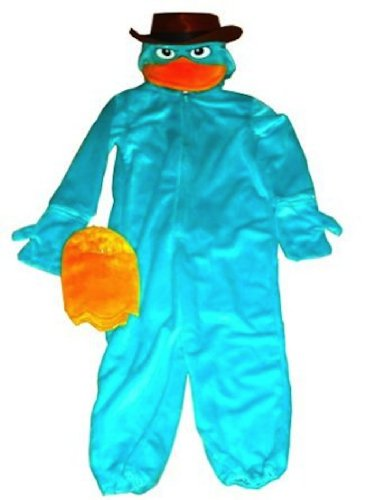 Disney Parks Deluxe Agent P Perry Costume Phineas and Ferb (XS 4-5 Extra Small)]()