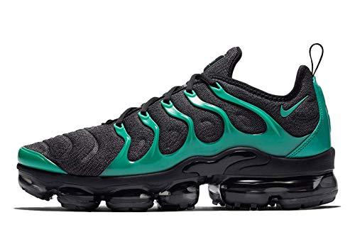 f39db84d4e1f4 Nike Mens Air Vapormax Plus Black/Clear Emerald-Cool Grey-Dark Grey Size 14