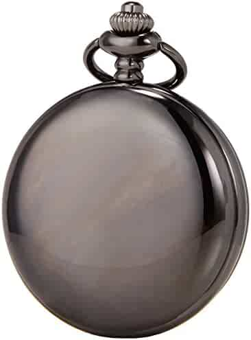 SEWOR Vintage Roman Flower Numerals Full Black Men Pocket Watch Classic Gift