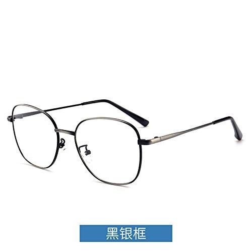 marco KOMNY de dorado los Silver equipo protección gafas marco flat espectáculo negro Gafas azules ojos espejo Black metal borde y contra radiaciones Frame plano las UxqIrUAwH