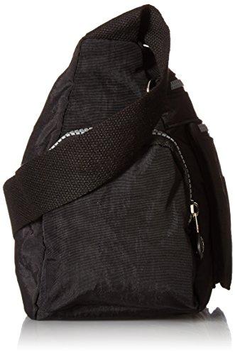 Nylon Zipper Waterproof Lightweight Pockets Crossbody Bag Tiny Lots With Black Chou Shoulder Messenger Evwn6xxtqP