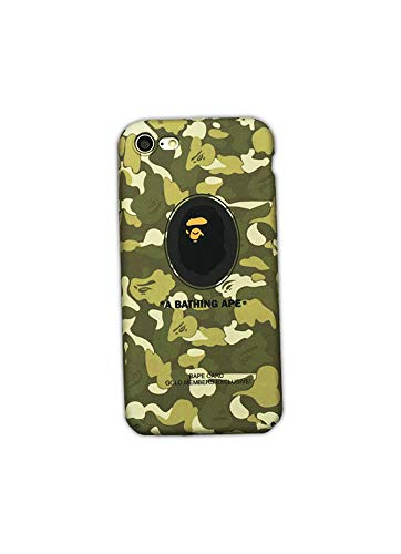 - Star Gas Bape | A Bathing Ape Phone Case for iPhone 7 and iPhone 8 | Green Camouflage Ape Logo