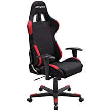 DXRacer Formula Series OH/FD01/NR Black Racing Seat Office DX Racer Chair Gaming Ergonomic adjustable Computer Chair with - Included Head and Lumbar Support Pillows (Black/Red)