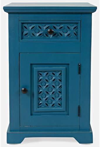Jofran Decker Cabinet Accent Table, 17 W x 14 D x 26 H, Blue