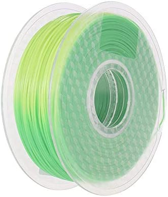 1.75mm Temperature Color Change PLA Filament Green to Yellow
