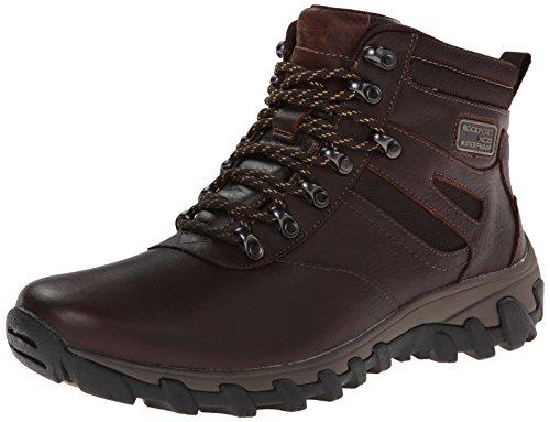 Rockport Mens Cold Spring Plus Plain-Toe Snow Boot Chocolate Leather kcxdzU