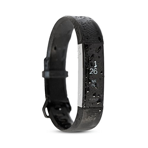 Waterfi Waterproof Fitbit Alta HR – Silver/Black (Large) by Waterfi