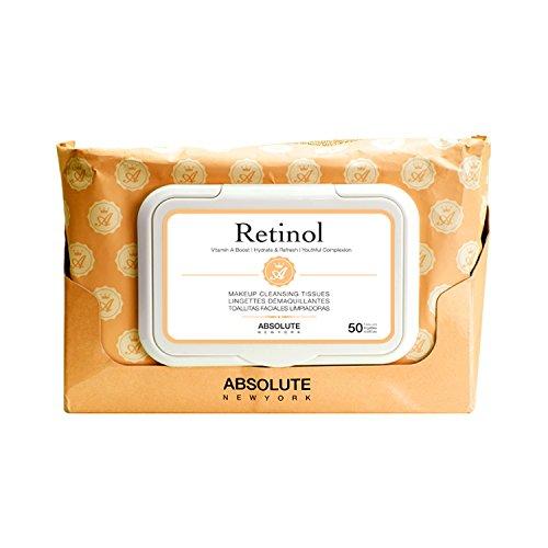 6 Pack) ABSOLUTE Makeup Cleansing Tissue 50CT - Retinol ...