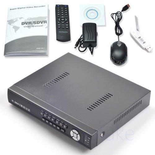 8CH Hybrid DVR NVR AHD CVI TVI CCTV IP Camera WiFi Cloud Mobile Network Security