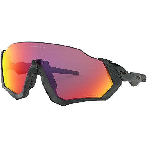 Oakley Men's Flight Jacket Sunglasses,OS,Polished Black/Matte Black