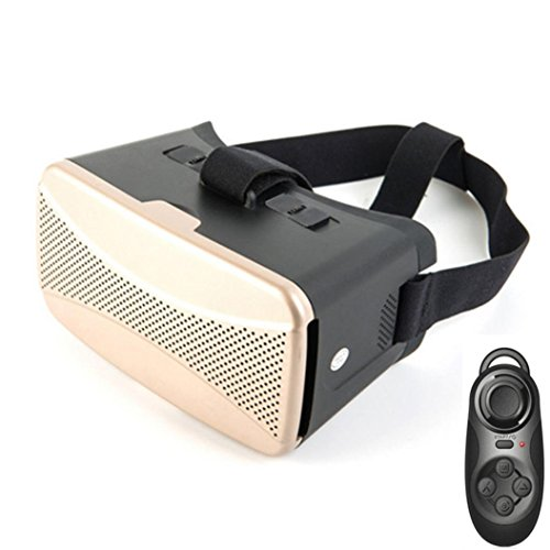 CoperHotsale Virtual Reality 3D Glasses + Bluetooth Controller Gamepad