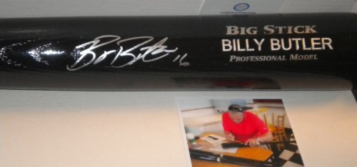 Billy Butler New York Yankees Oakland Athletics Kansas City Royals Autographed Signed Engraved Bat