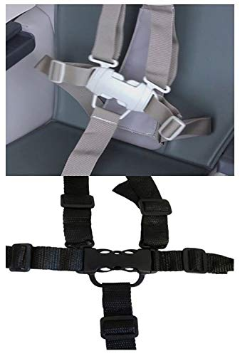 5 Point Harness Buckle Plus Straps Replacement Part for Ingenuity Trio 3-in-1 High Chair Seat Safety for Babies, Toddlers, Kids, Children