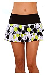 Show No Love Women\'s Ball Girl Flounce Tennis Skirt (size M)