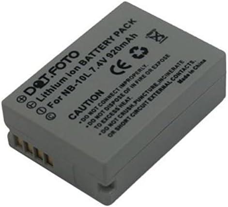 Canon NB-10L PREMIUM Dot Batería de Reemplazo - 7.4V/920mAh - Garantía de 2 años [Vea compatibilidad en la descripción]