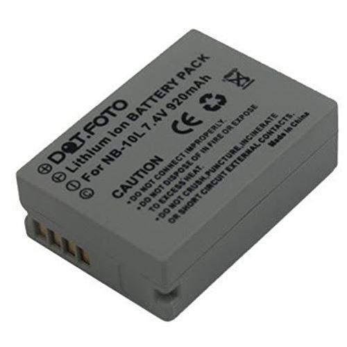 TALLA 1. Batería. Canon NB-10L PREMIUM Dot Batería de Reemplazo - 7.4V/920mAh - Garantía de 2 años [Vea compatibilidad en la descripción]