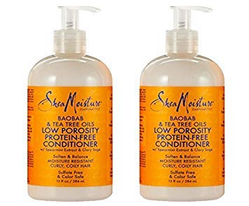 Shea Moisture Baobab & Tea Tree Oils Low Porosity Protein-Free Conditioner, 13 Ounce (Best Conditioner For Low Porosity Hair)