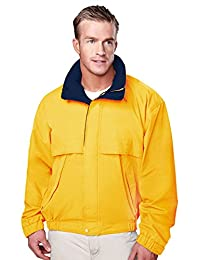TRM Men's Panorama Water Resistant Hooded Shell Poplin Jacket (8 Colors, S-6XLT)